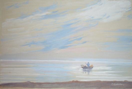 Boot auf Bodden