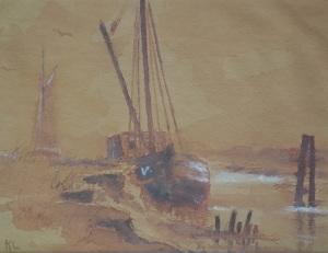 Käthe Loewenthal - Boote im Hafen von Vitte
