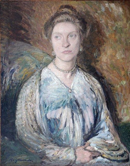 Portrait von Hedwig Woermann - Ottilie Reylaender