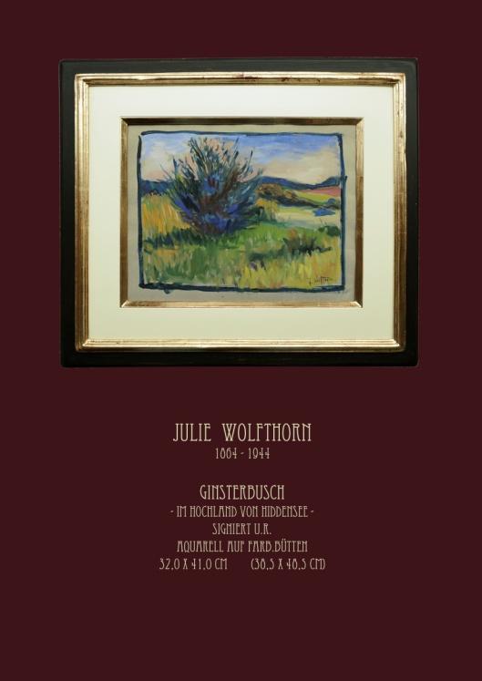 Julie Wolfthorn - Ginsterbusch auf Hiddensee