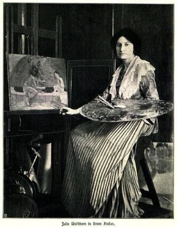 Julie Wolfthorn in ihrem Berliner Atelier