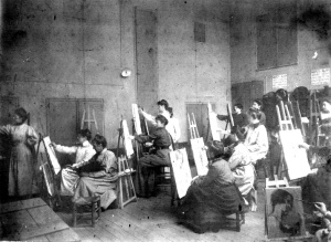 Damenakademie Paris um 1900