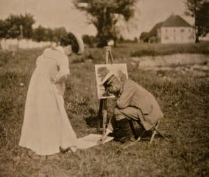 Hans von Hayek beim Unterricht