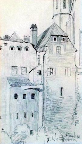 Julie Wolfthorn - Ansicht auf Dachau