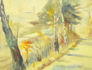Feldweg im Sonnenlicht