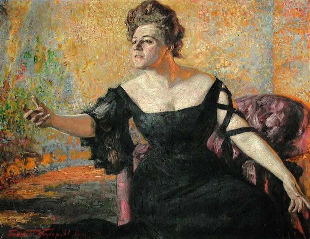 Theodor Wedepohl - Portrait Käthe Freifrau von Broich