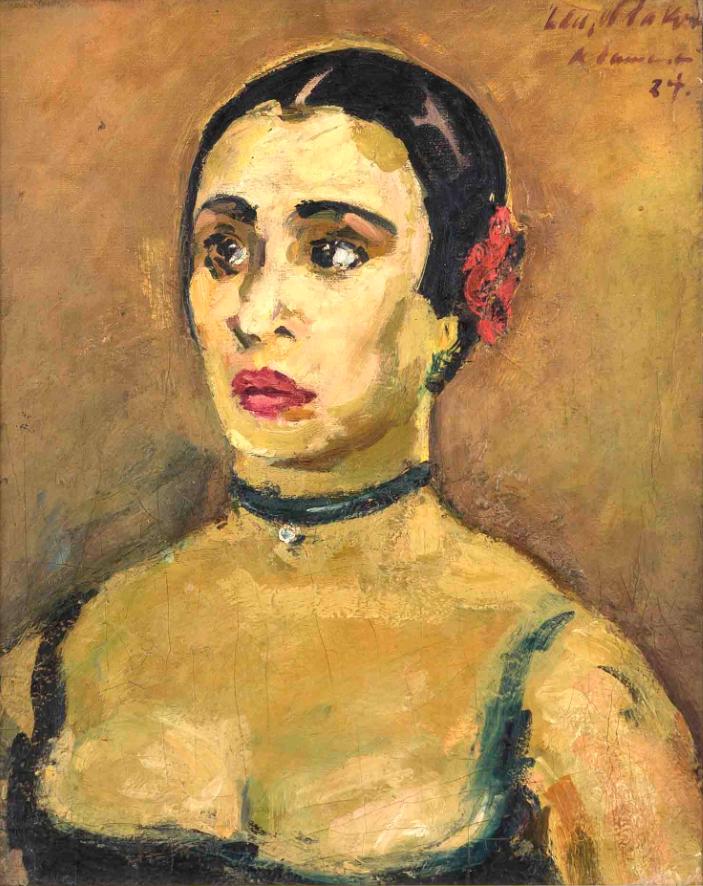 Karl Dannemann - Porträt der Tänzerin Gret Palucca