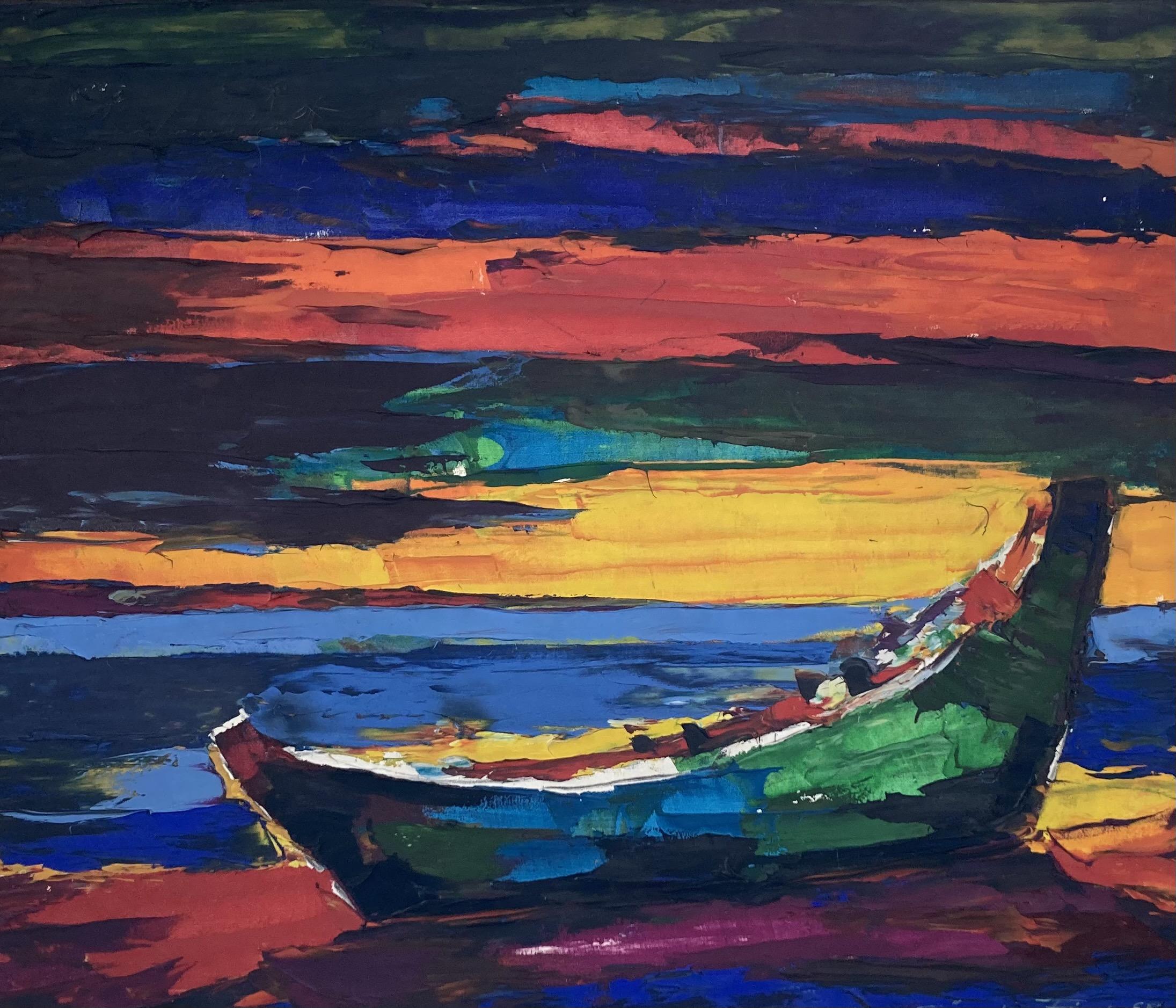Günter Fink - Fischerboot am Strand von Vitte