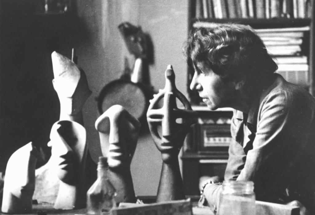 Jeanne Mammen um 1946-47 im Atelier